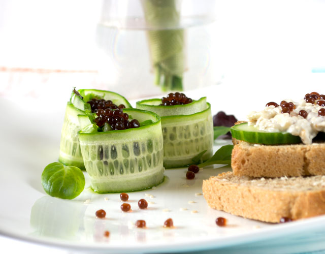 molecular gastronomy salad and sandwich